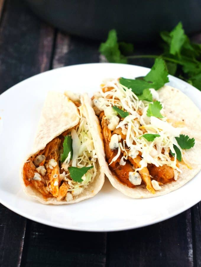 Buffalo Ranch Chicken Tacos