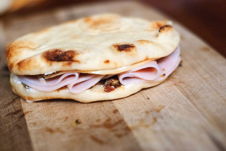 Italian Flat Bread Turkey Melts