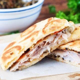 Italian Flat Bread Turkey Melts