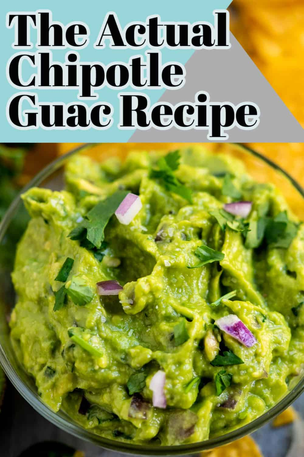 The famed guacamole recipe from Chipotle! This smooth guacamole recipe is the same recipe Chipotle uses! They shared it a few years ago and I've been hanging onto it ever since! Save this restaurant-style guacamole recipe! via @hlikesfood