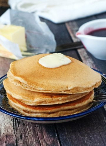 Super Fluffy Whole Wheat Pancakes