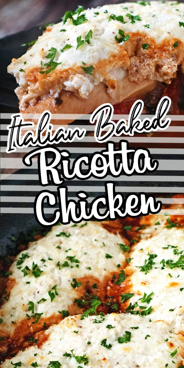 Tender baked chicken topped with a chunky tomato sauce and creamy Italian cheeses. It's the perfect meal to serve with pasta and a big loaf of bread! This is a family favorite! via @hlikesfood