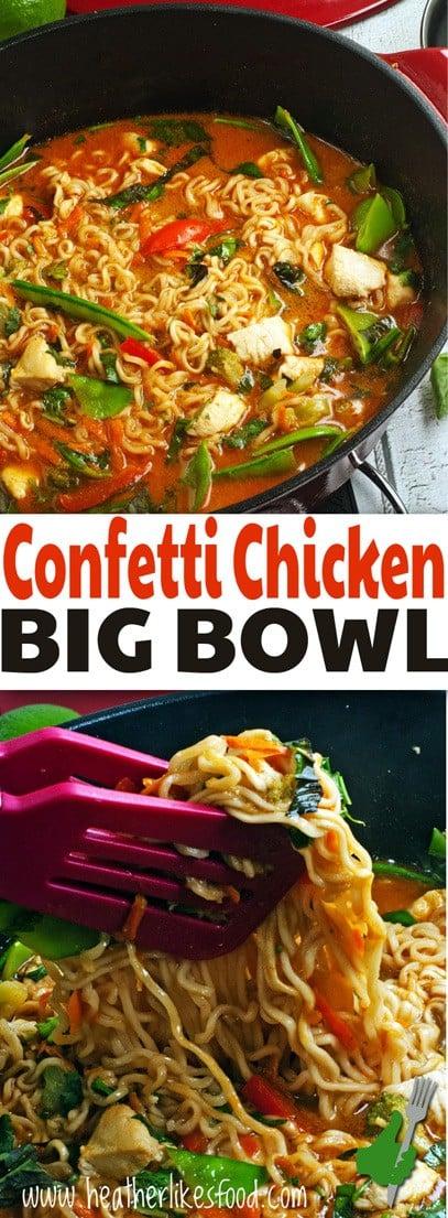 Confetti Chicken Big Bowl