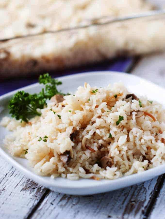 Easy Baked Rice Pilaf