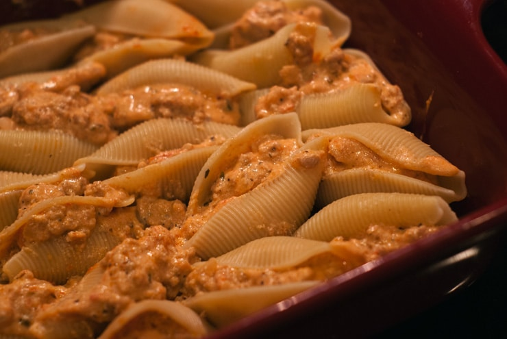 Stuffed Lasagna Shells