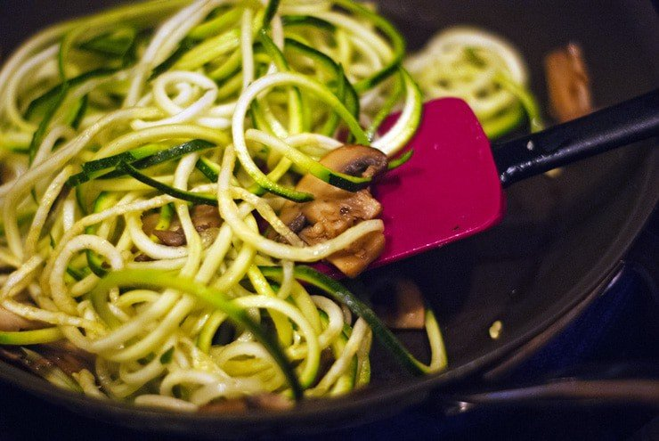 Brown Butter Zucchini Noodles with Garlic