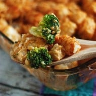 Cheesy Chicken and Broccoli Tater Tot Casserole
