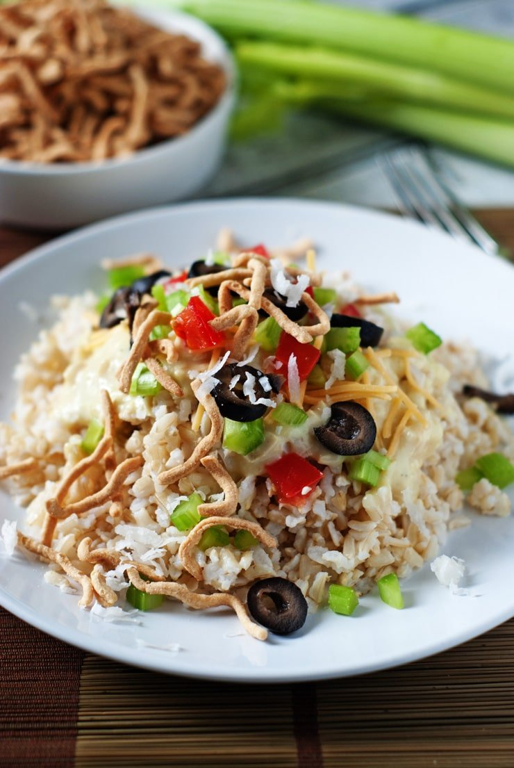 Homemade Hawaiian Haystacks with made from scratch chicken ...