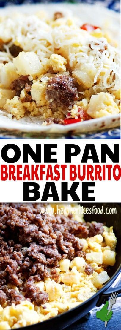 One Pan Breakfast Burrito Bake