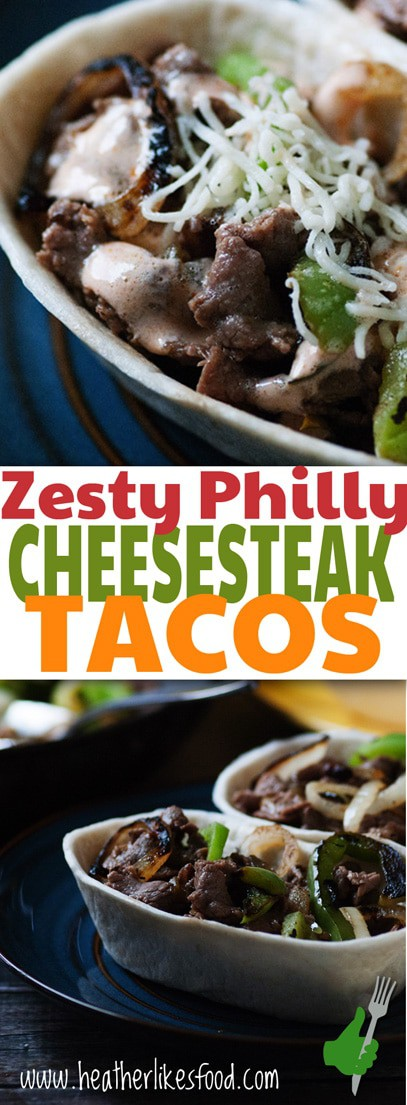 Zesty Philly Steak and Cheese Tacos