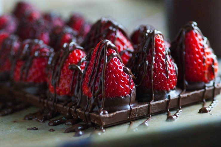 Chocolate Covered Strawberry Candy Bars