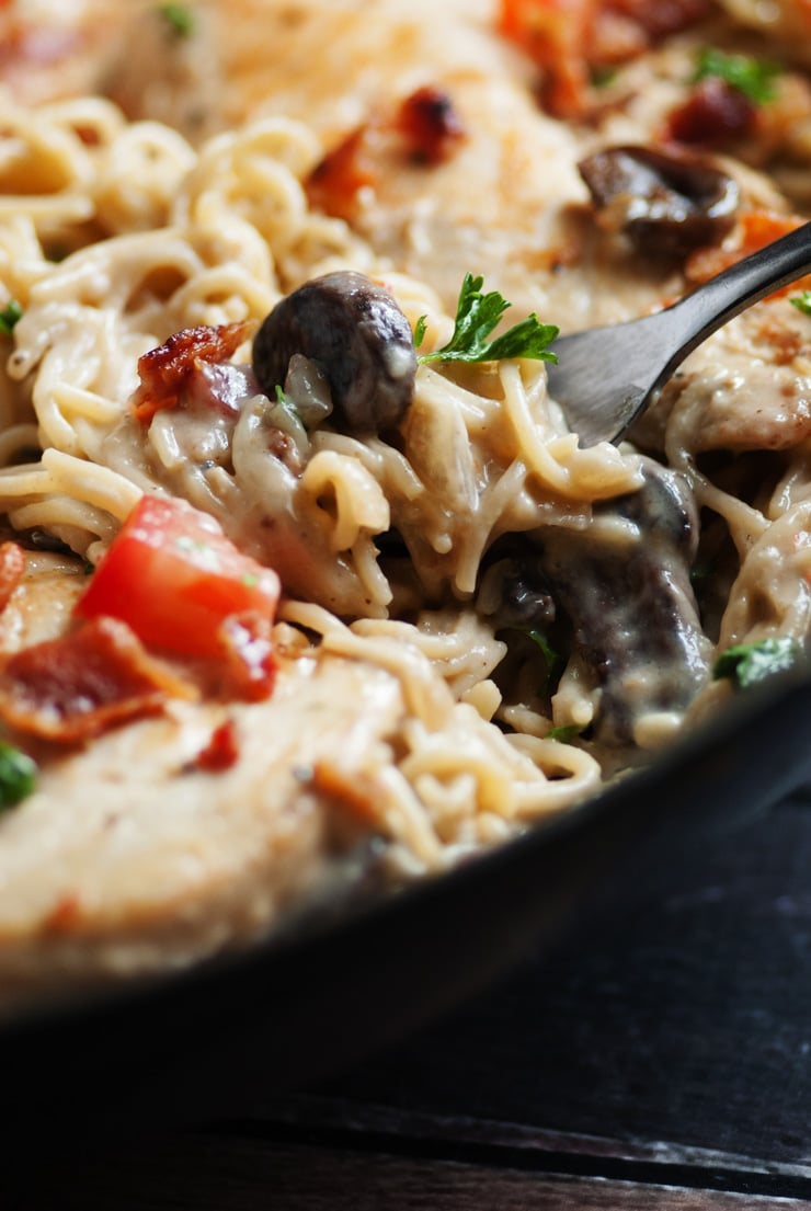 One Pan Smothered Chicken Skillet