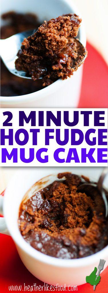 2 Minute Hot Fudge Mug Cake