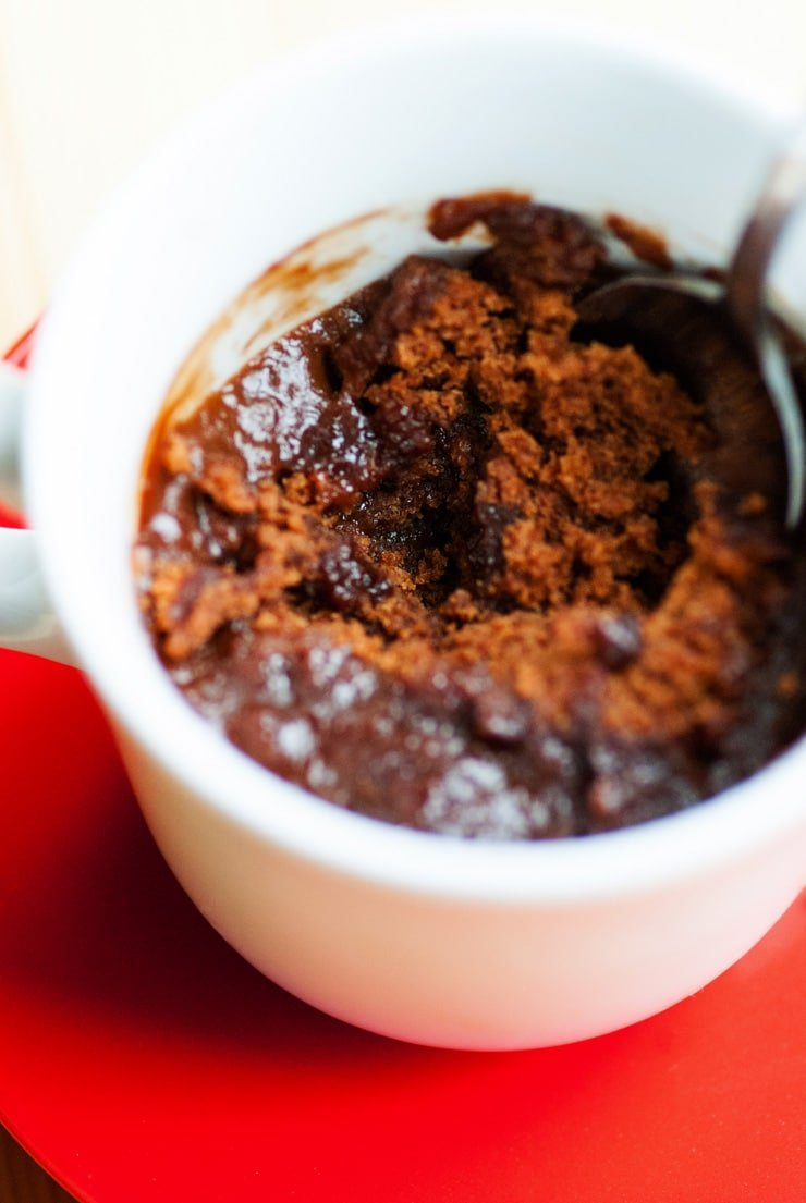 2 Minute Hot Fudge Mug Cake