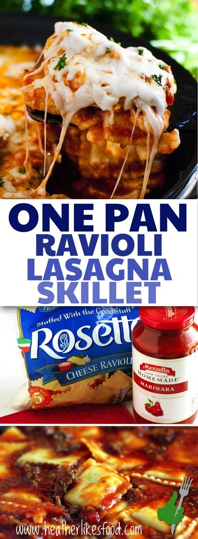 One Pan Frozen Ravioli Lasagna