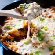 Chicken Black Bean Enchilada Skillet