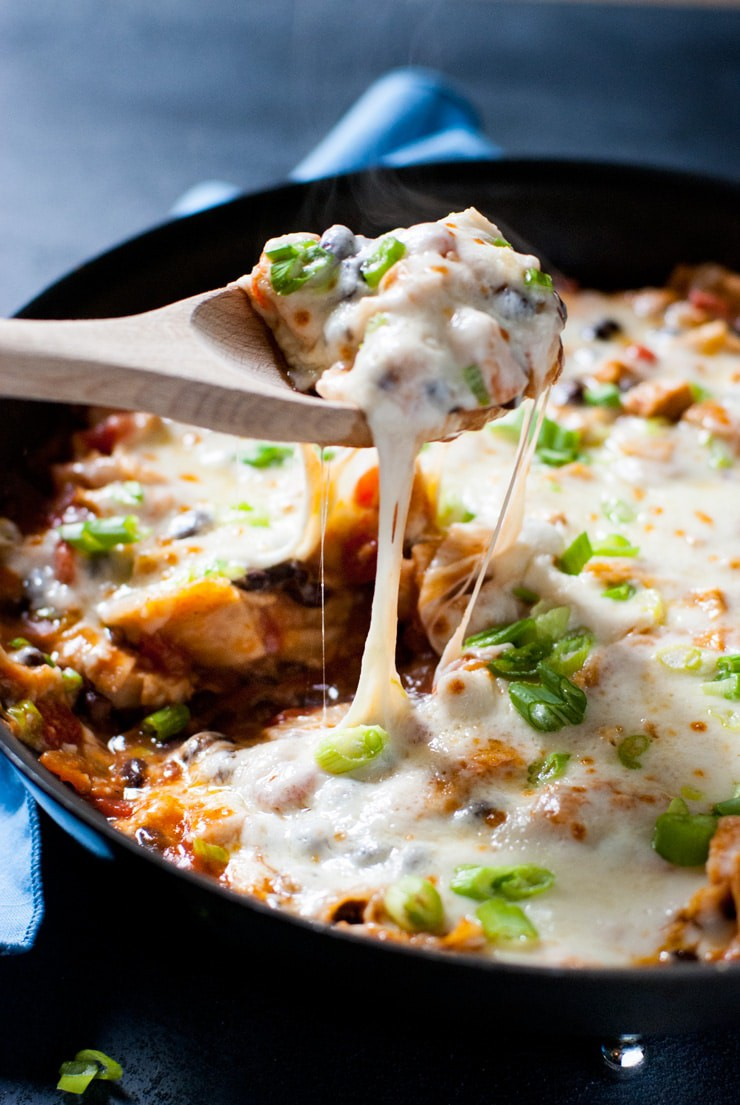 Chicken Black Bean Enchilada Skillet