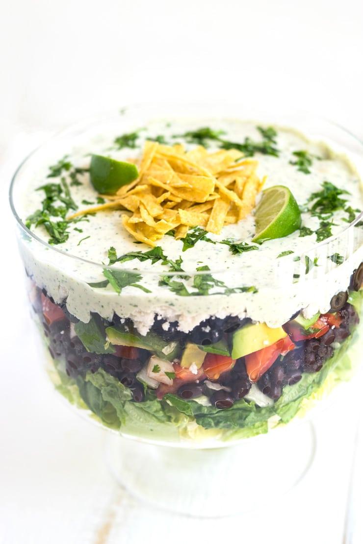 Cilantro Lime Ranch Layered Salad