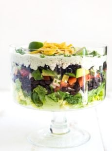 Cilantro Lime Ranch Layered Salad