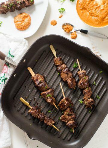 Cumin Marinated Steak Kabobs