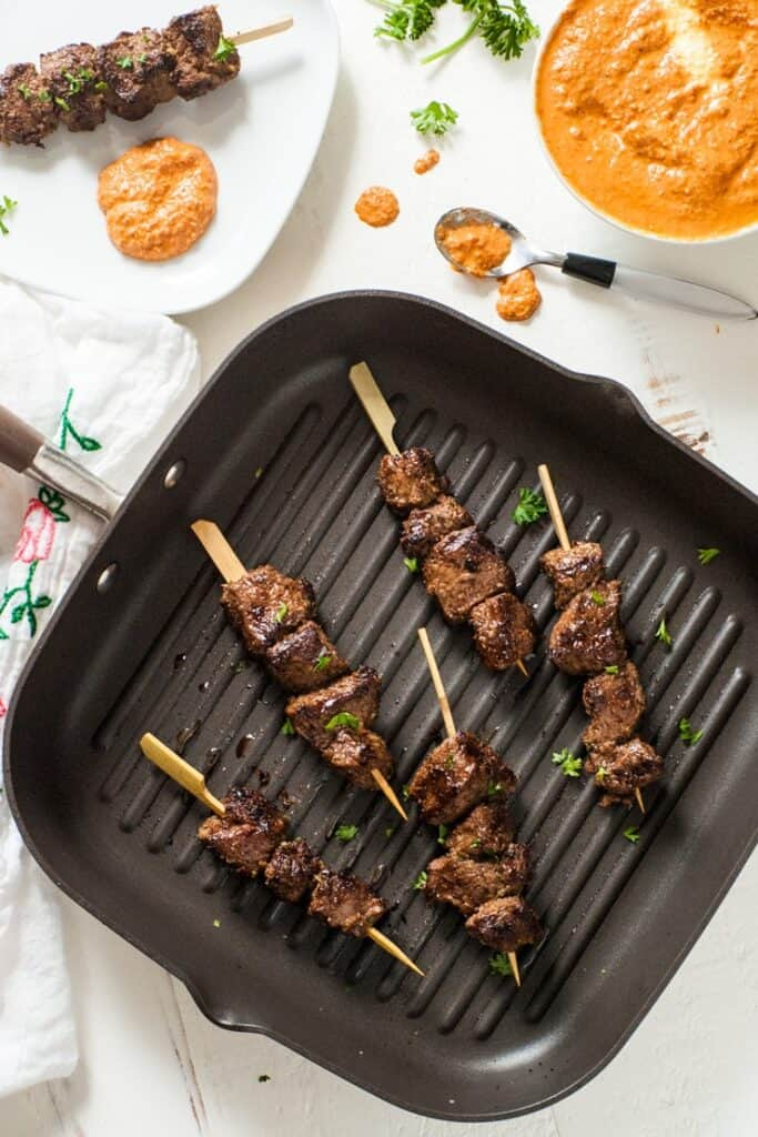 Cumin Marinated Steak Kabobs