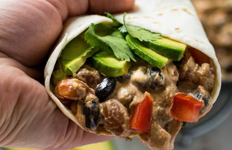 One Pan Crack Bean Burritos