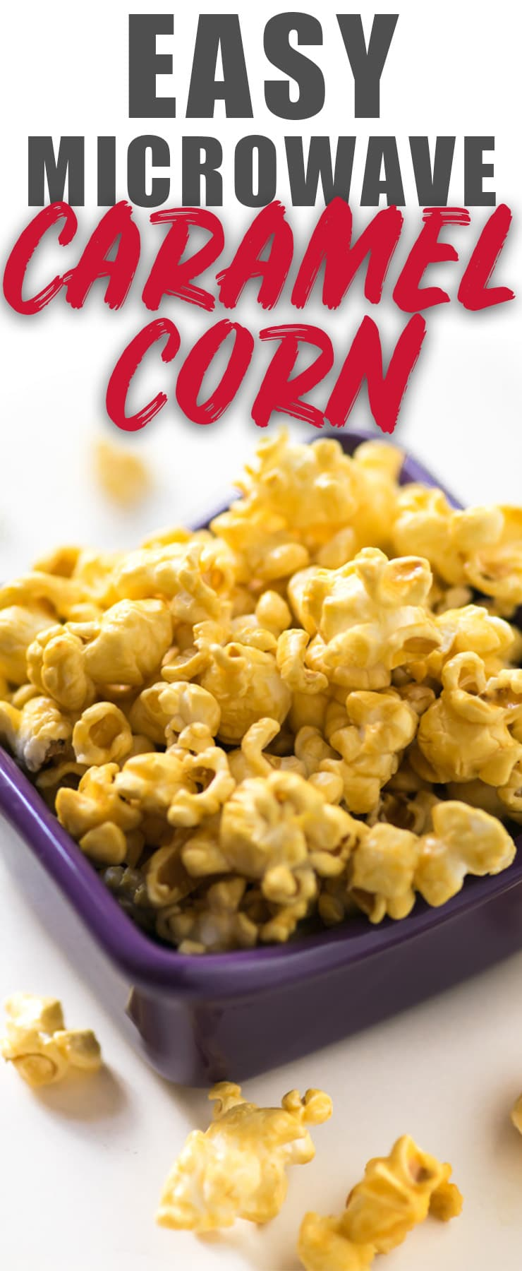 Caramel Popcorn in the Microwave?!? YES! This easy recipe uses brown sugar and a fun technique that involves lots of dancing around the kitchen. My kids love to help! A perfect Christmas gift! #popcorn #gift #caramel