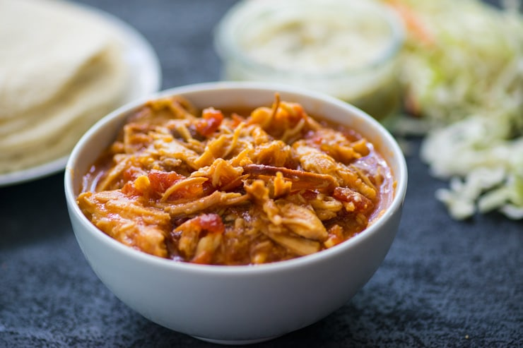 Crockpot Pineapple Salsa Chicken