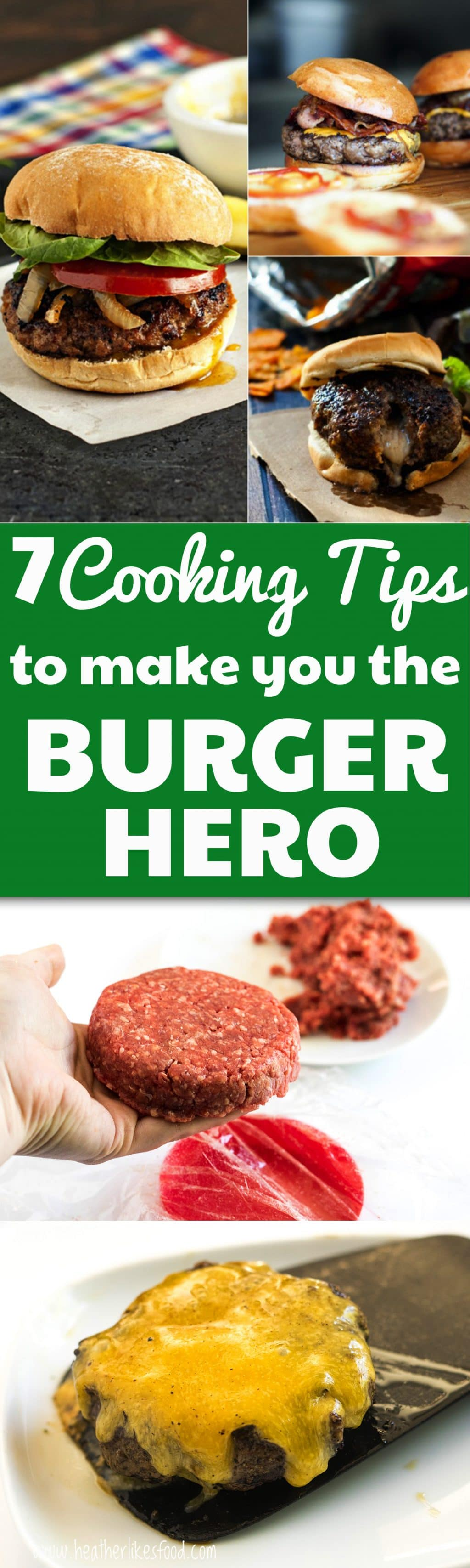 7 Cooking tips for perfect burgers