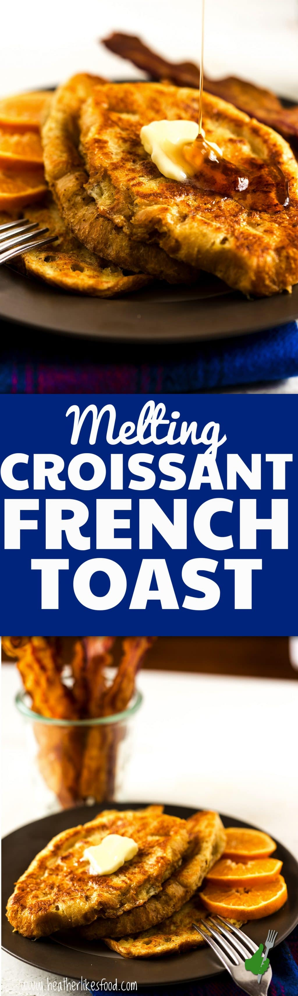 This isn't your regular french toast! The croissants bring this breakfast favorite to a whole new level! It's creamy, and buttery, and practically melt in your mouth. Pair it with a SmithfieldBaconBar and you've got one festive breakfast for the holidays!