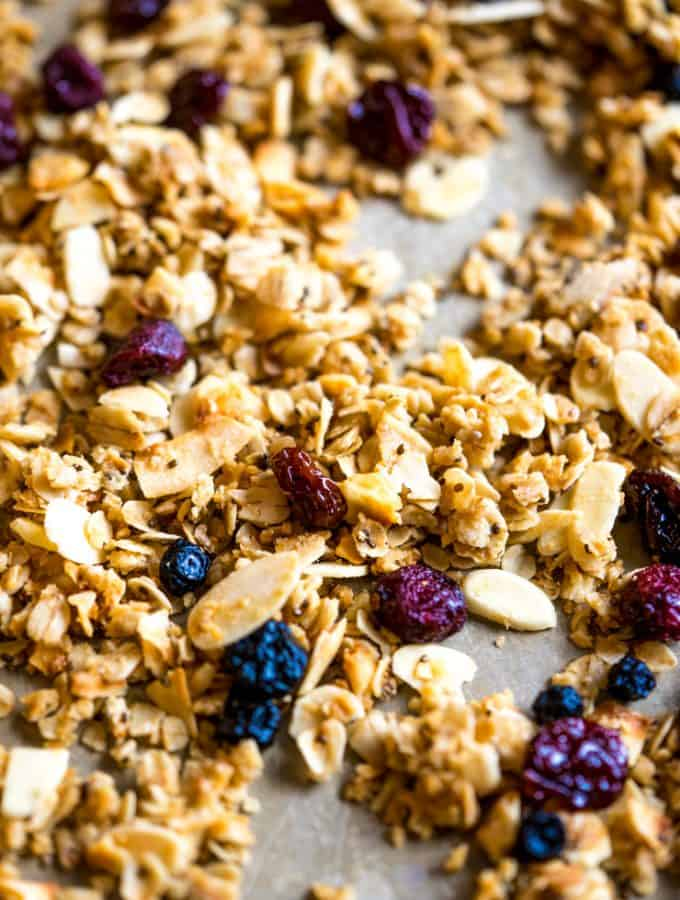 Triple Berry Coconut Oil Granola