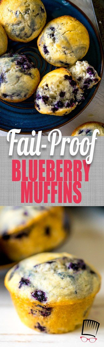 One bowl + one short-cut ingredient = easy blueberry muffins! SO EASY, even a baby can make them! REALLY!!