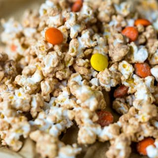 Reeses Peanut Butter Popcorn- sweet, crunchy and peanut buttery