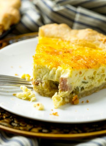 This is the quiche recipe of all quiche recipes and can be taylored to your taste by switching out the mix-ins. BUT, it's the egg custard that is the shining star here-- creamy, dreamy, and delcious!