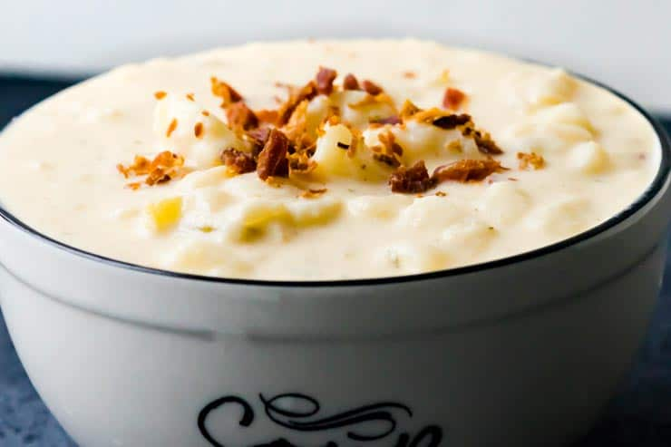 Instant Pot Cheesy Potato Soup Recipe