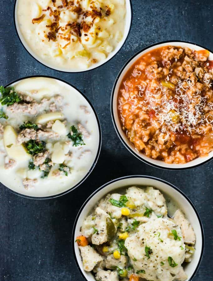Four 7 Minute Instant Pot Soup Recipes