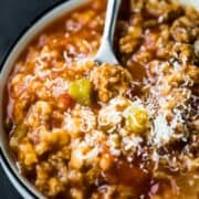 Instant Pot Stuffed Bell Pepper Soup Recipe