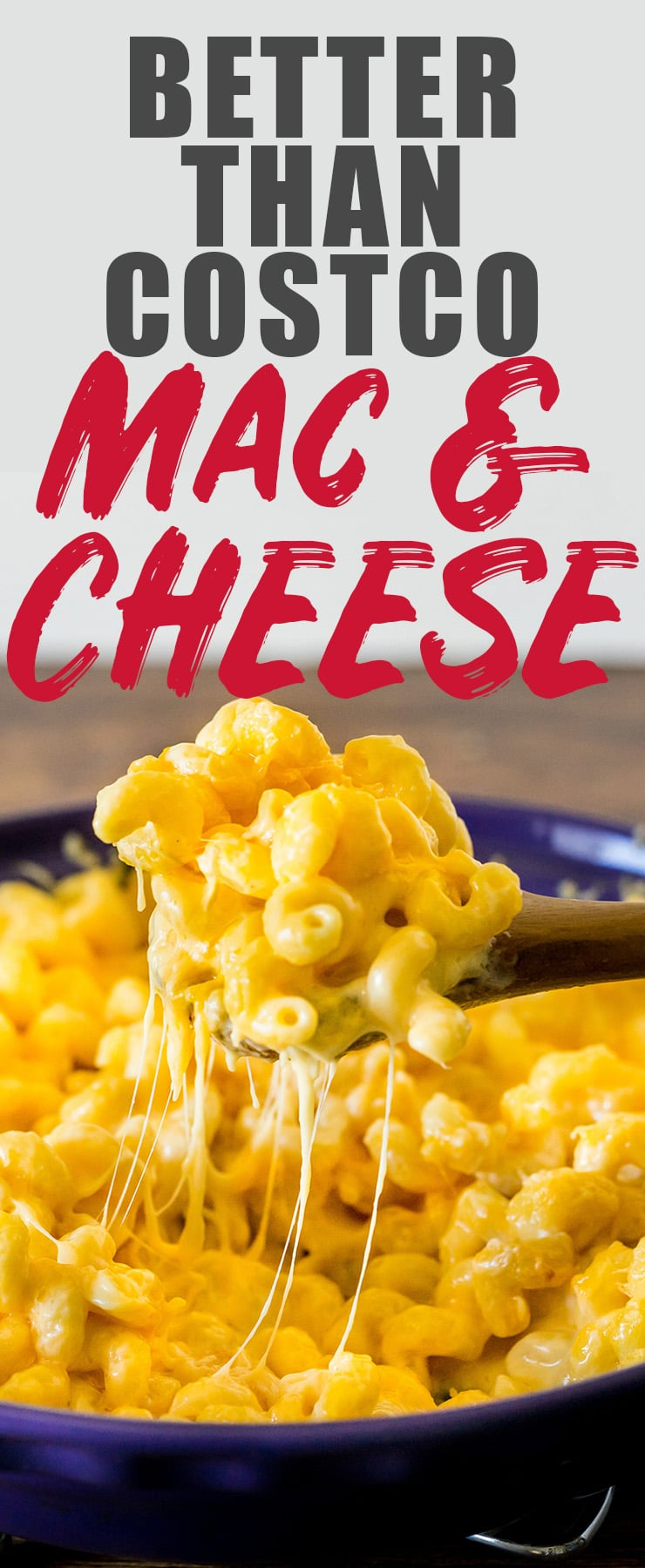 Creamy, cheesy, and super easy, this mac and cheese recipe will make your Costco Mac and Cheese loving heart happy. I have a feeling you won't need your Costco card after trying this. #macandcheese #costco #cheesy #copycat #macaroni
