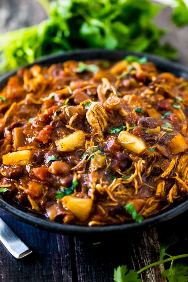 Instant Pot Bbq Chicken Chili With Pineapple
