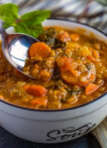 Instant Pot Lentil Soup cooked in the Instant Pot is a quick and easy soup that is filled to the brim with flavor.