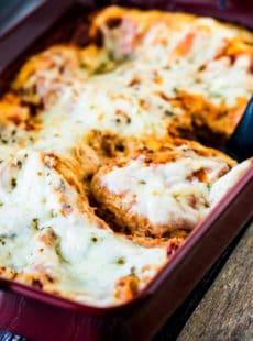 Easy Cheesy No Meat Lasagna Recipe