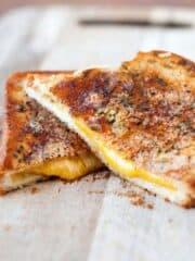 Garlic Parmesan Grilled Cheese Sandwiches Recipe