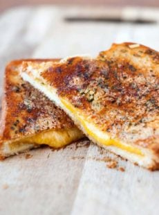 Garlic Parmesan Grilled Cheese Sandwiches Recipe