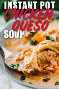 Instant Pot Chicken queso soup
