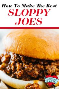 Sloppy joe sandwich on the best toasted bun