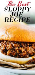easy sloppy joe sandwich on a toasted bun