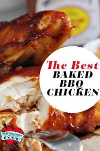 Baked barbecue chicken breast