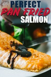 Pan Seared Salmon with Blackberry Balsamic Sauce