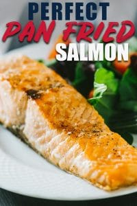 Pan Seared Salmon with crispy skin