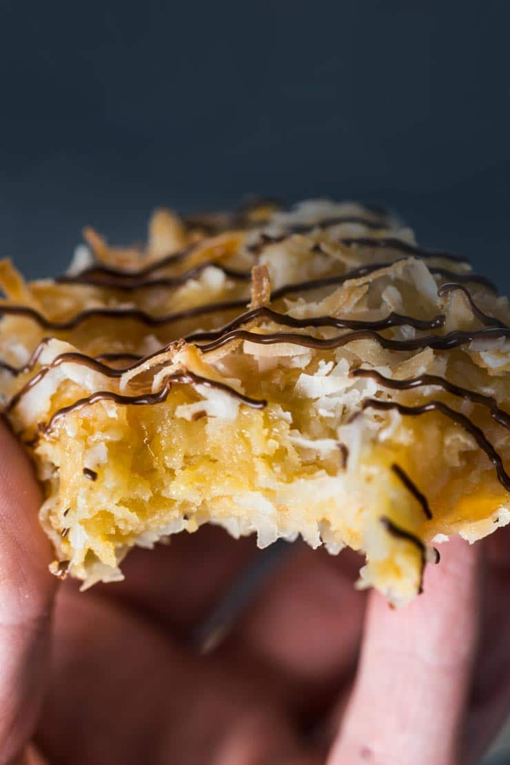 Coconut Macaroon Cookie with chocolate drizzle